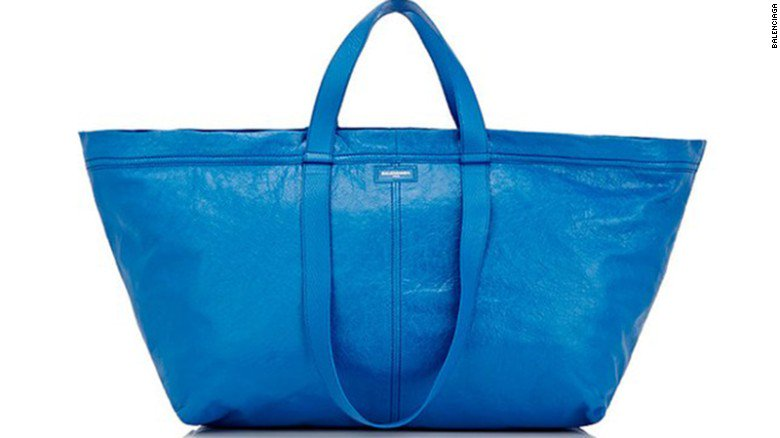 33df65dc8b8 balenciaga s 2145 ikea inspired blue tote isn t the first piece to take  inspiration from
