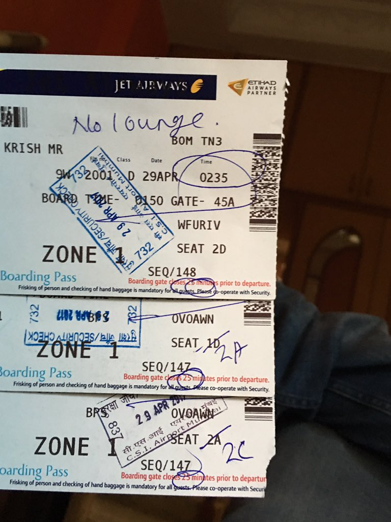 Jet Airways On Twitter We Ve Shared Your Details With Our Airport