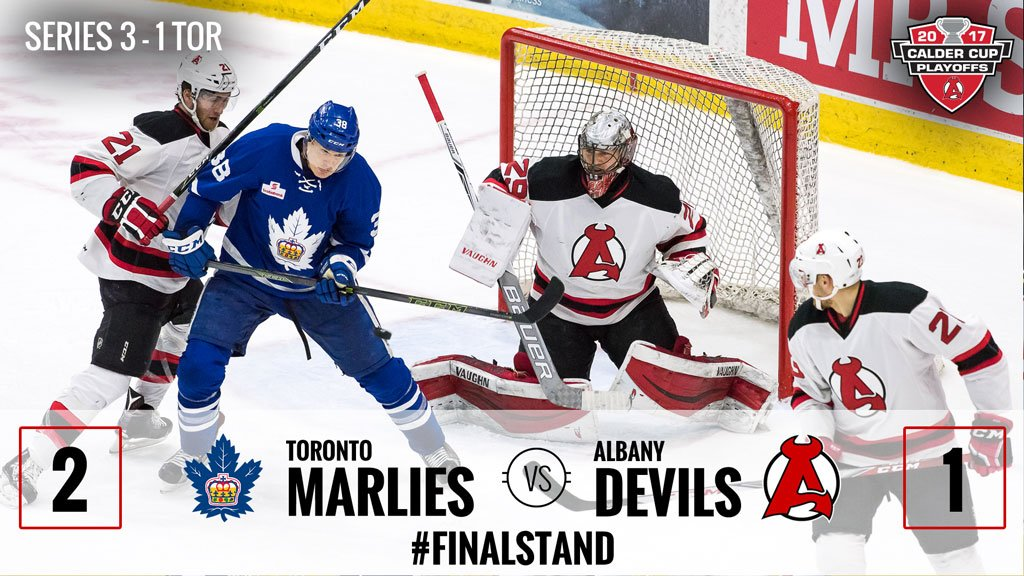 [RECAP] After almost 107 minutes of play, the #ADevils fell to the Marlies tonight in Game 4 → https://t.co/4ygLd5jqrG https://t.co/4HqfmnPvpv