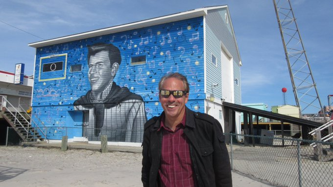 4/26 Happy Birthday Bobby Rydell  Here\s his mural on the Wildwood, New Jersey boardwalk...Wild, Wild,Wildwood Days