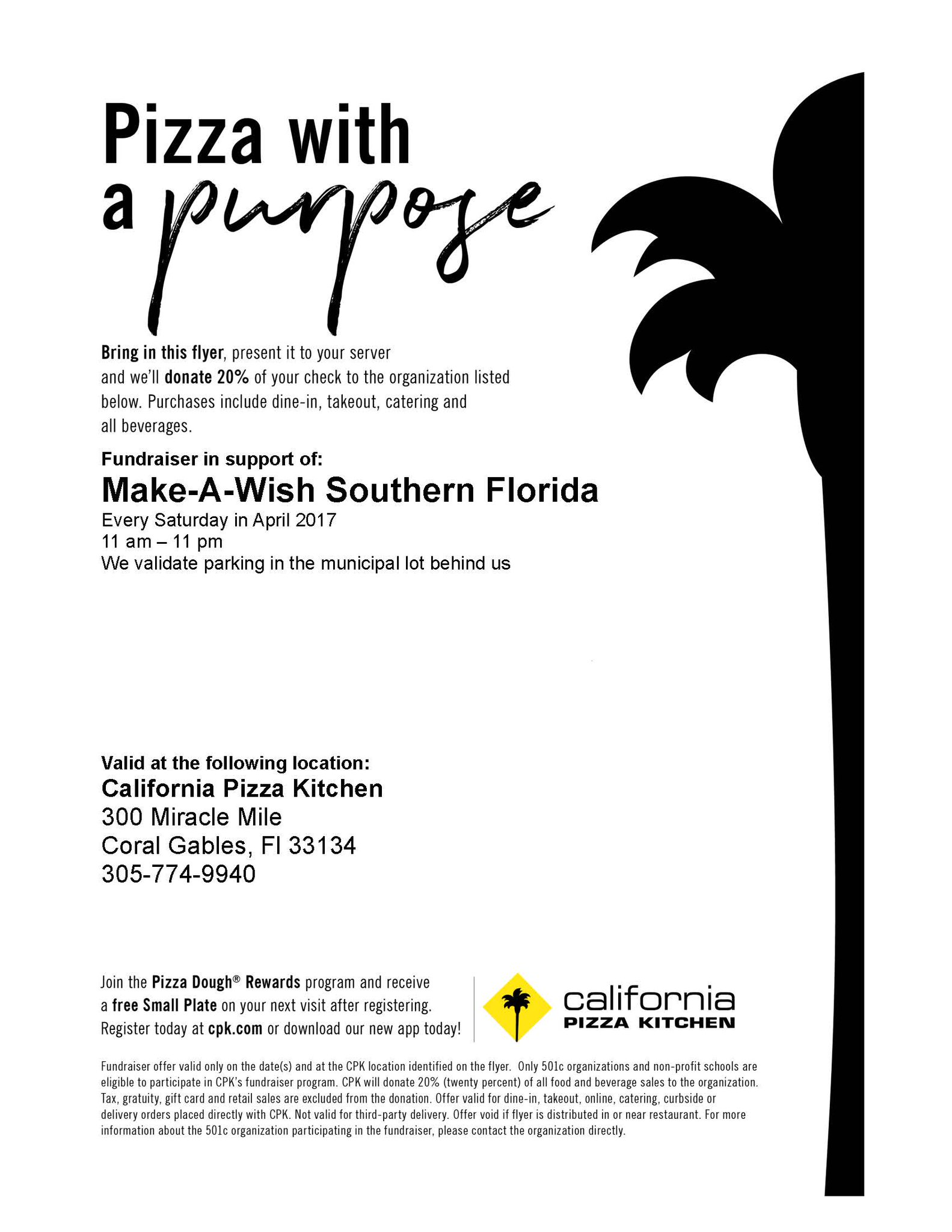 make a wish so fla on pizza with a purpose at