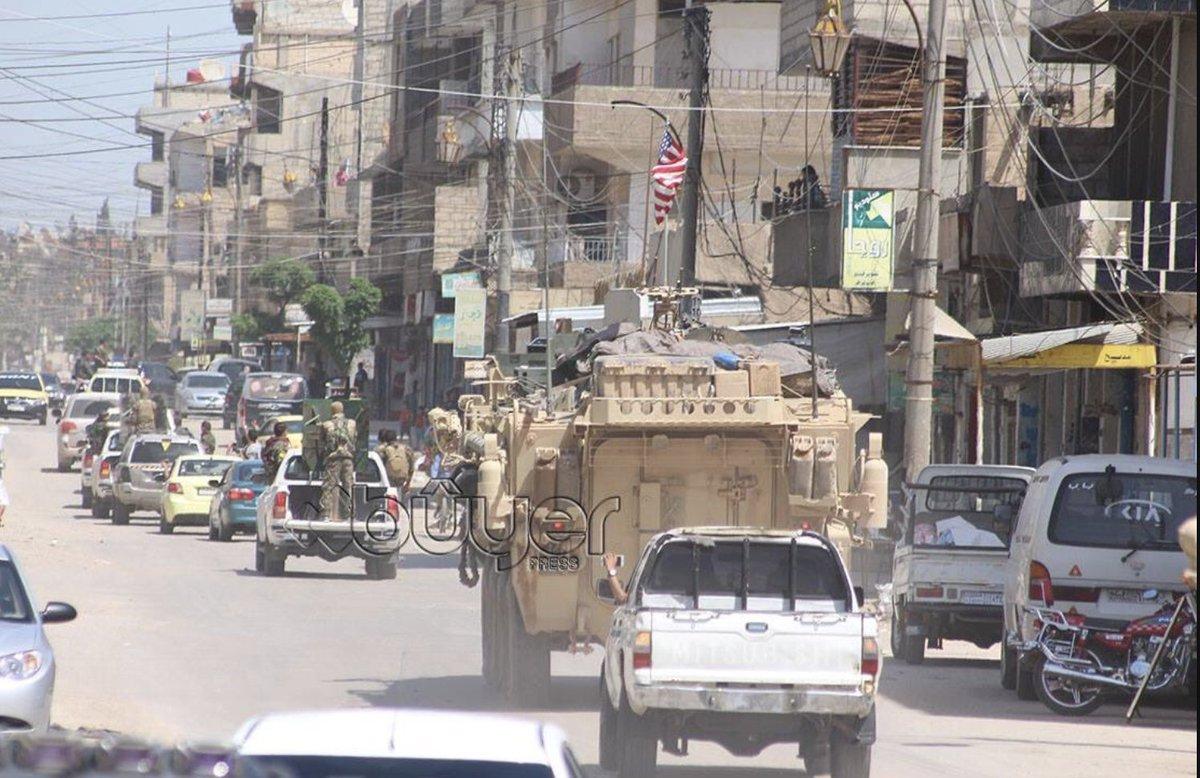 ABDli askerler YPGyle birlikte sınır nöbetinde 49