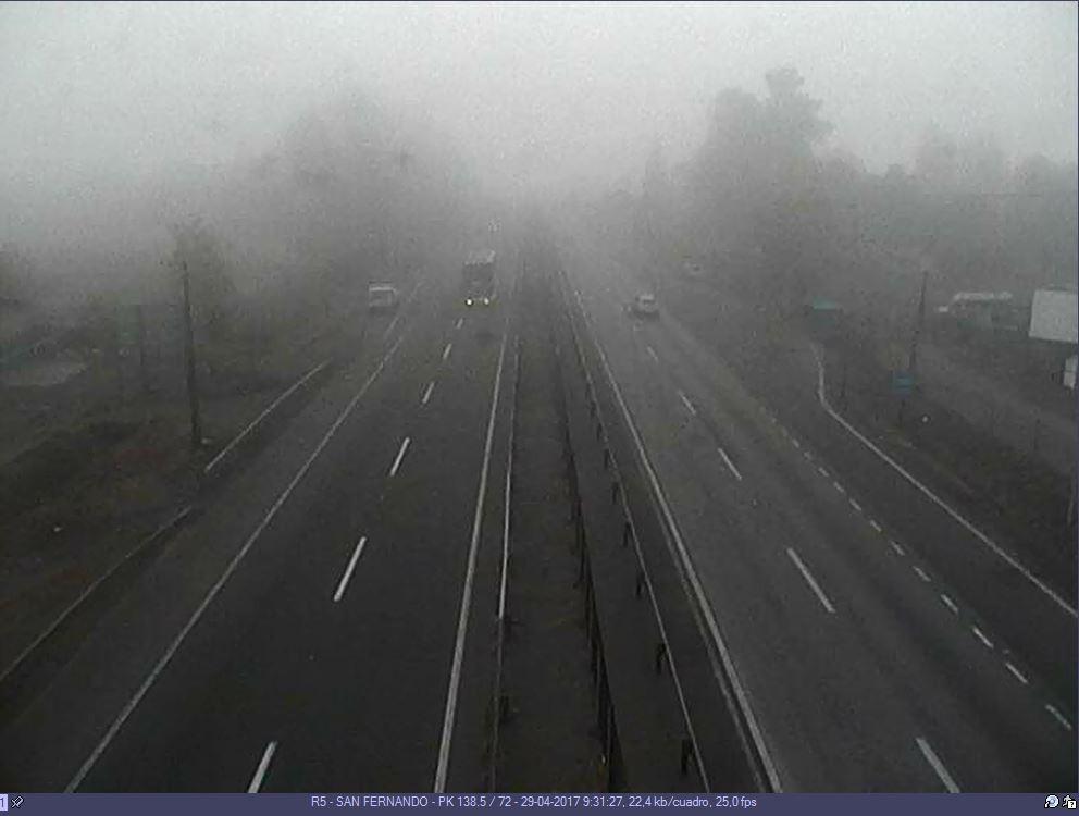 RT @rutadelmaipo ⚠️ VISIBILIDAD REDUCIDA x #Neblina en #Ruta5Sur, tramos San Fernando, Chimbarongo, Quinta-Morza, Teno, Curicó, Lontué y Molina @rutadelmaule