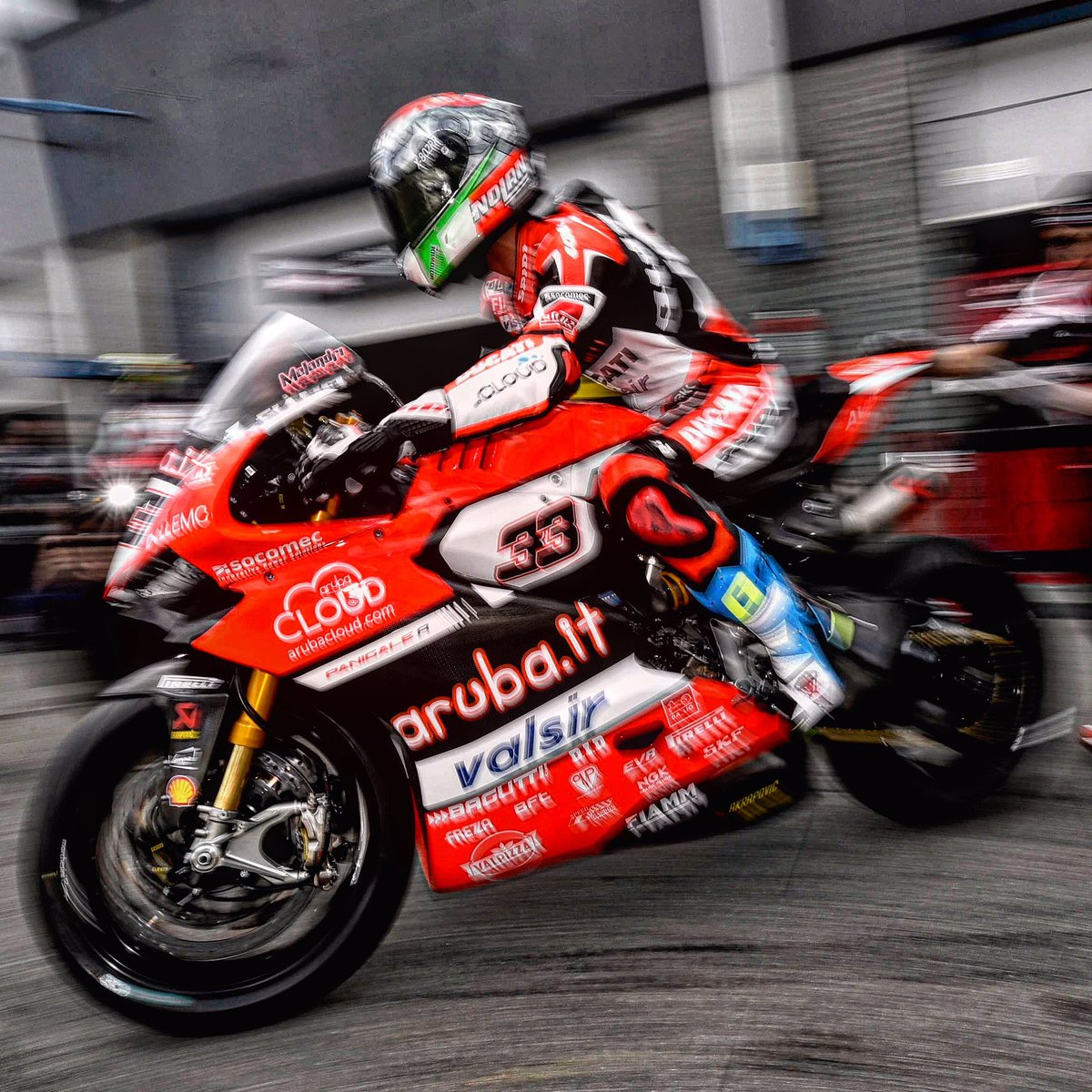 Lucky @MarcoMelandri33 @WorldSBK #DutchWorldSBK @ArubaRacing #speed #bikes #bikers #race #ridetrue #spidiwarrior