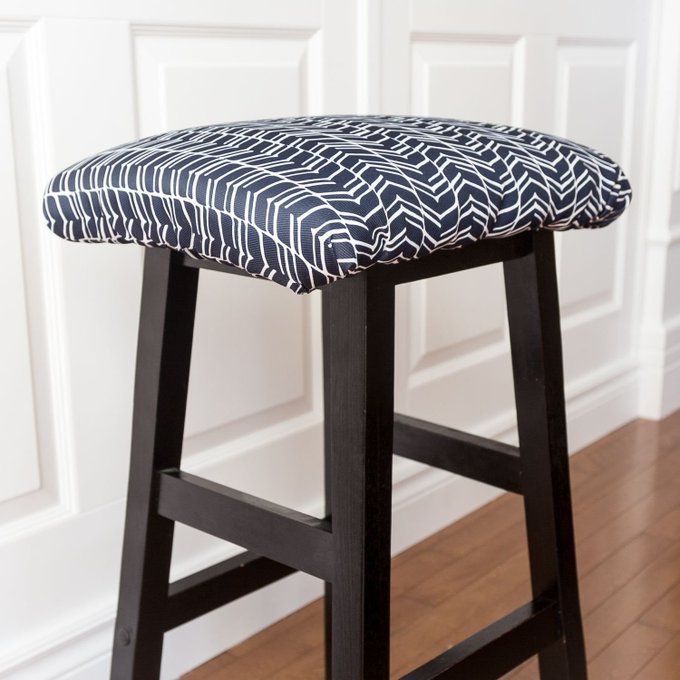 How to upholster a square stool