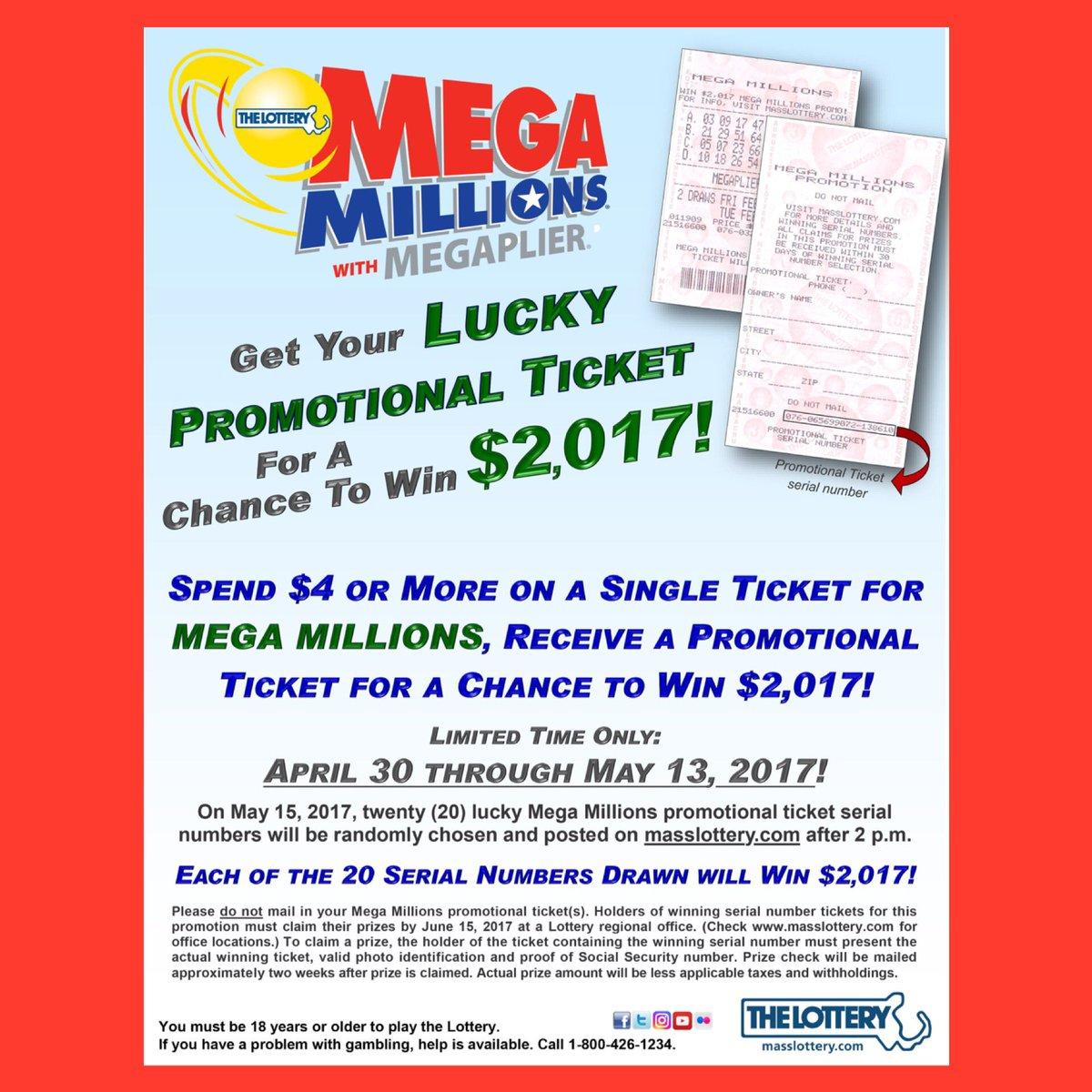 mega millions promotion ticket serial numbers