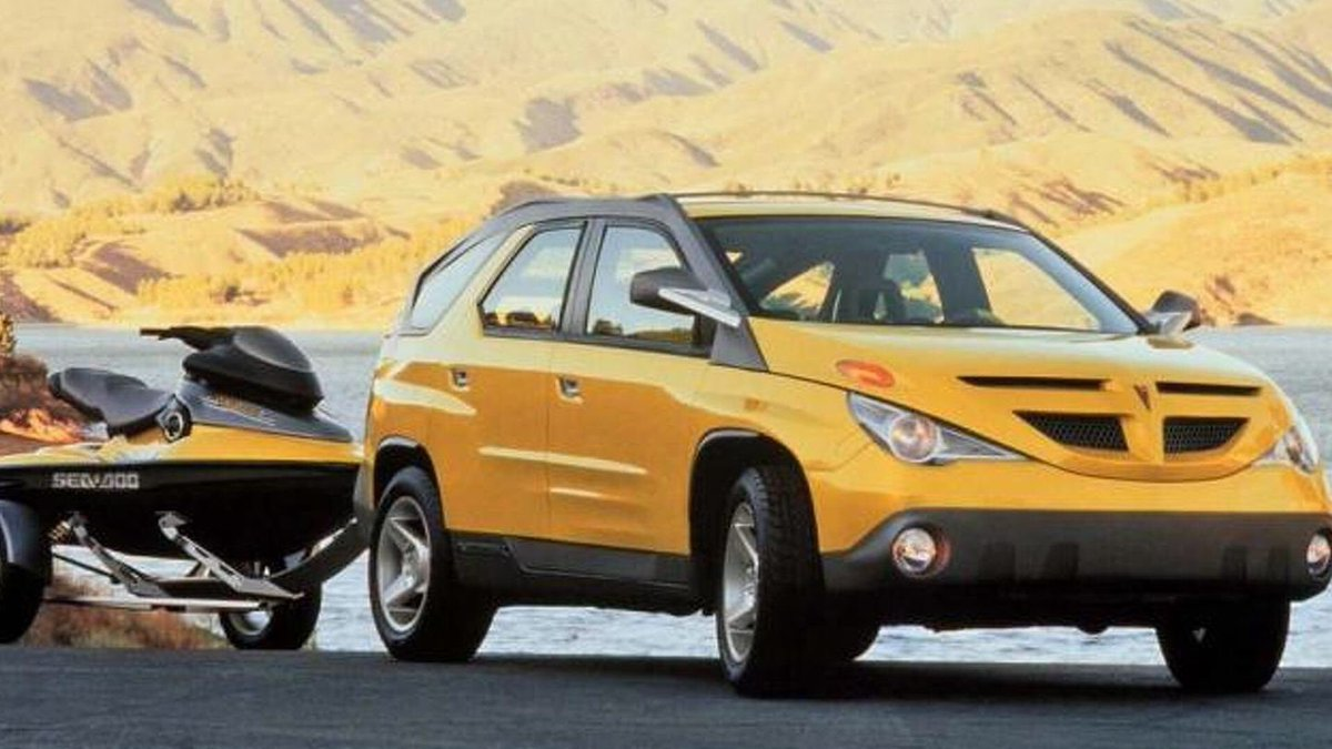 Form Trends On Twitter Pontiac Aztek From Sketch To Concept Production Model