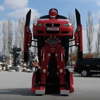 This car transforms into a robot! Unfortunately it can't walk... https...
