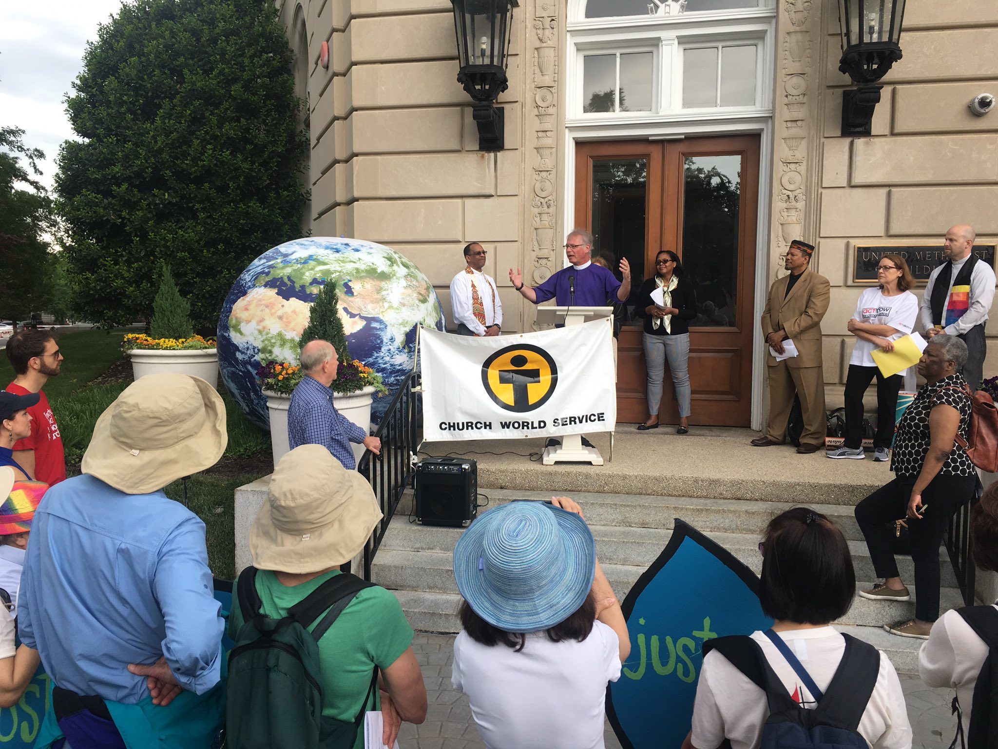 """""""It takes a world body to address world problems."""" @BishopMarc on the importance of global action to address #climatechange. https://t.co/RG7FK3wfhS"""