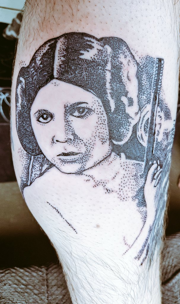 Really happy with my new tattoo from @Tabootattoo13 #StarWars #princessleia <br>http://pic.twitter.com/uuuTDAaBIU