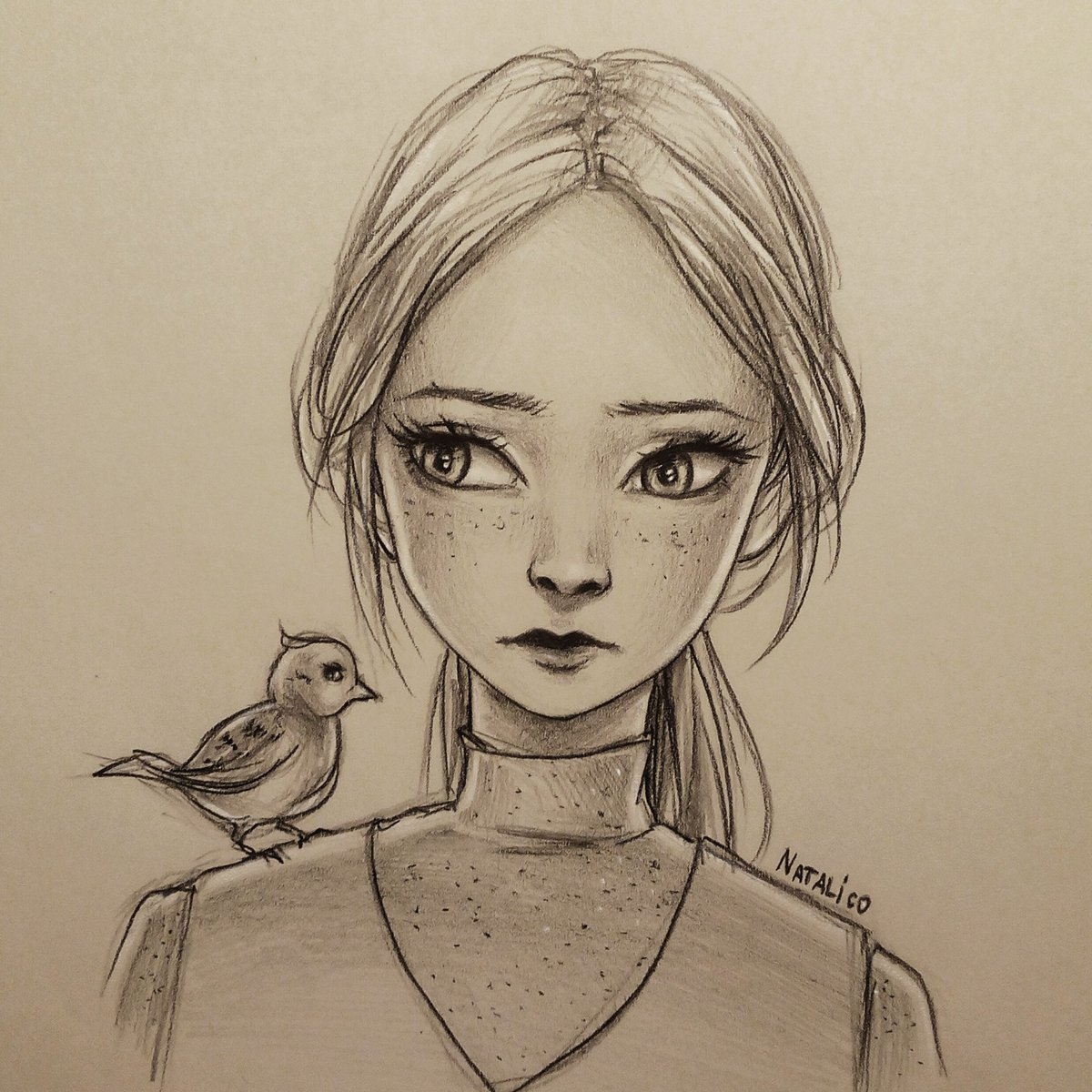 Natalico On Twitter Girl With A Bird Traditional