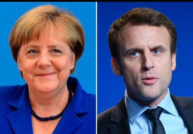Huge Endorsement For #MarineLePen  #Merkel Supports Fellow Muslim Invasion Enabler #Macron For President  #Presidentielle2017 #AuNomDuPeuple<br>http://pic.twitter.com/VdieafNRaJ