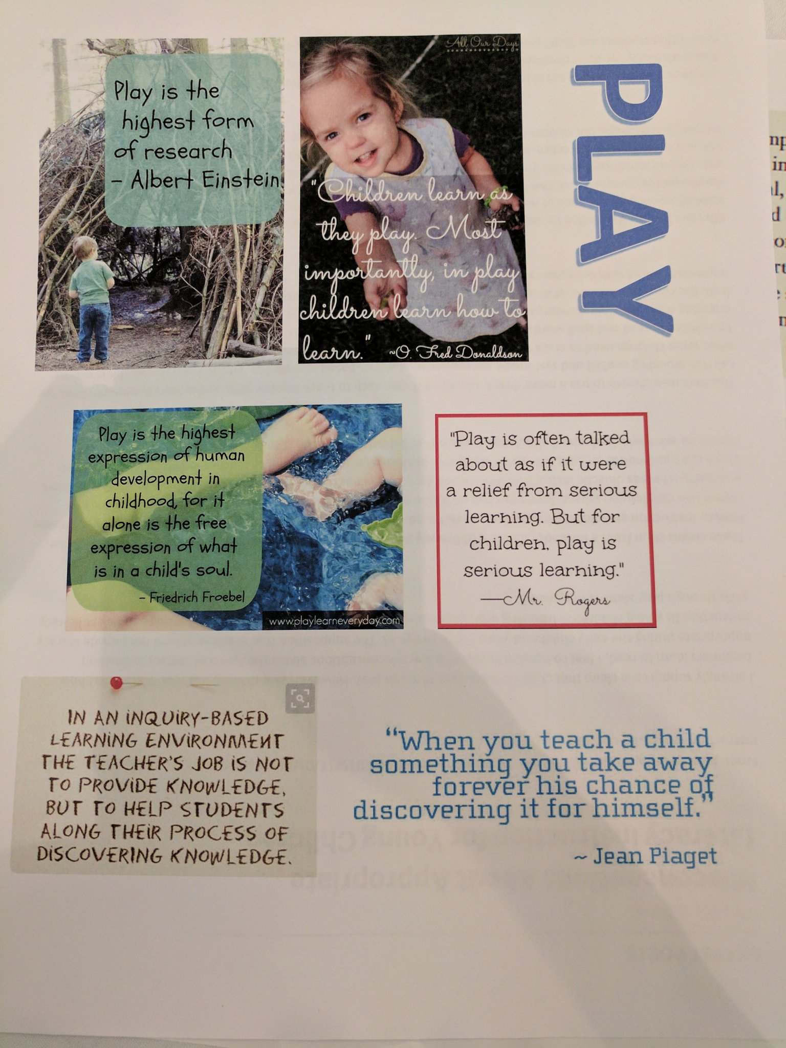 Quotes about the value of Inquiry and Play-Based learning #etfopley https://t.co/8Bklo2EfAj