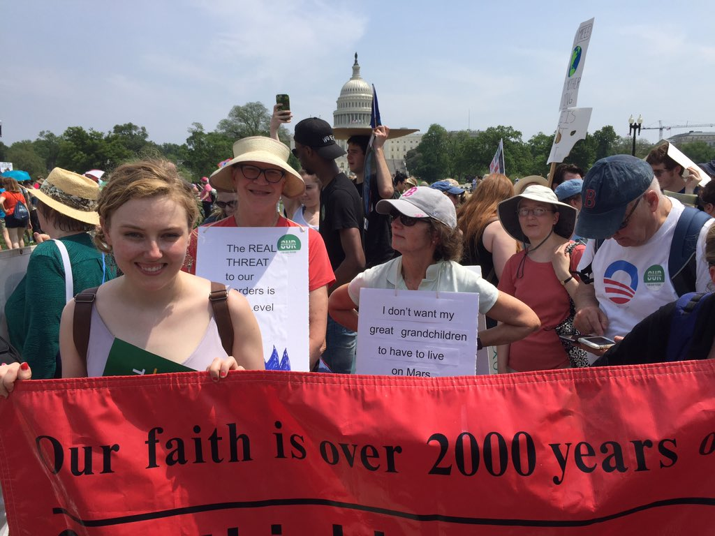 Our faith is 2000 years old. Our thinking is not. Climate change is a real threat to the earth & everyone in it! #climatemarch https://t.co/n6NqmPYrWa