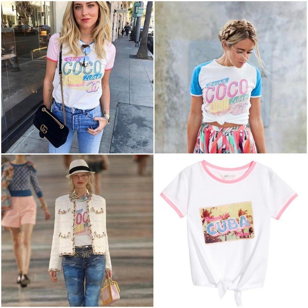 742acb7632af chanel cuba t shirt tweed skirt 17 Source · iTowers on Twitter H M Kids  version of the Coco Cuba Libre Chanel