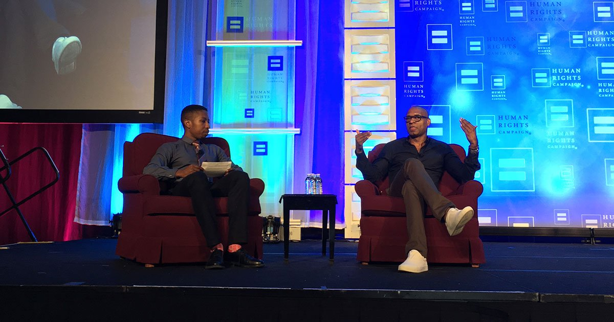 """""""It is not the job of the oppressed to fix the flaw in the oppressor."""" - @CharlesMBlow at @HRC's #TimeToTHRIVE Conference https://t.co/GRZ7GQbhHk"""