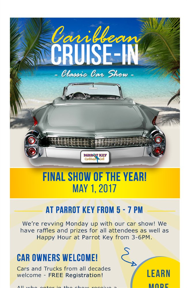 Salty Sams Pirate PirateCruiseFMB Twitter - Parrot key car show