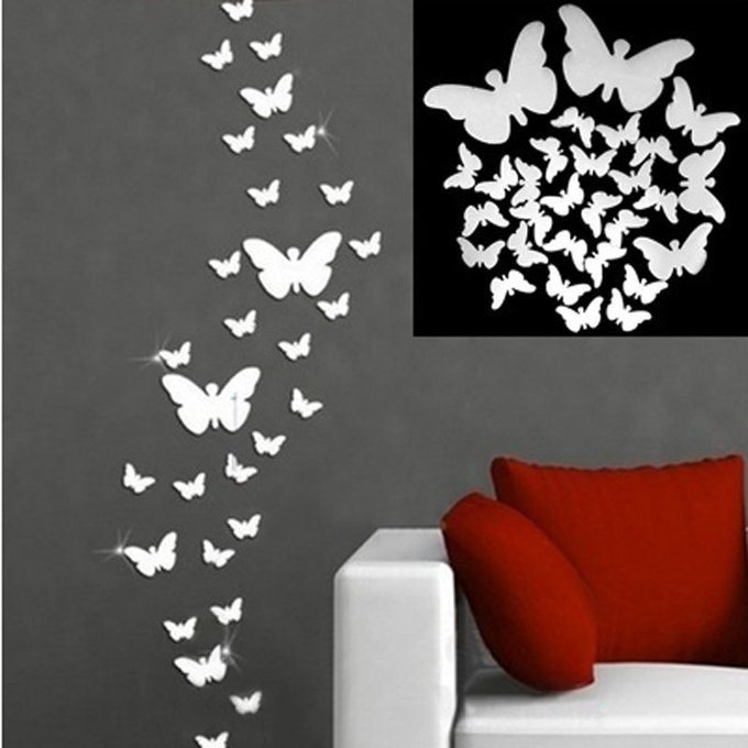Butterfly Mirror Stickers