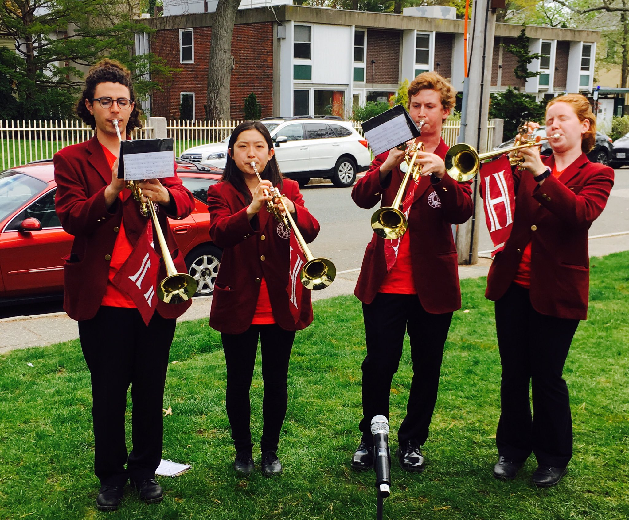 Harvard Herald Trumpeters at the Gomes Honors Ceremony #HDS200 https://t.co/LgTjcD8d14
