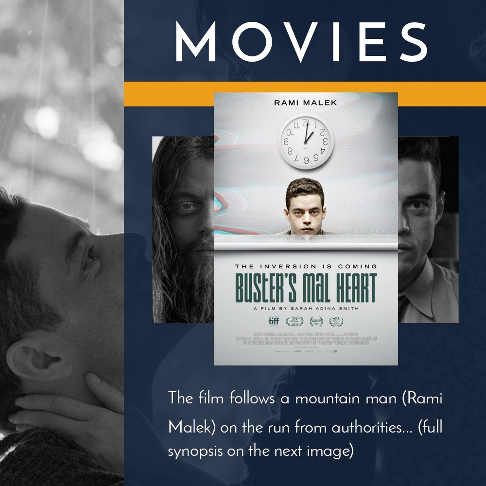Movie recommendation of the week: &#39;Buster&#39;s Mal Heart&#39;, in theaters now (second image for full synopsis) #Movies #Recommendation<br>http://pic.twitter.com/yrJaUkVc5K