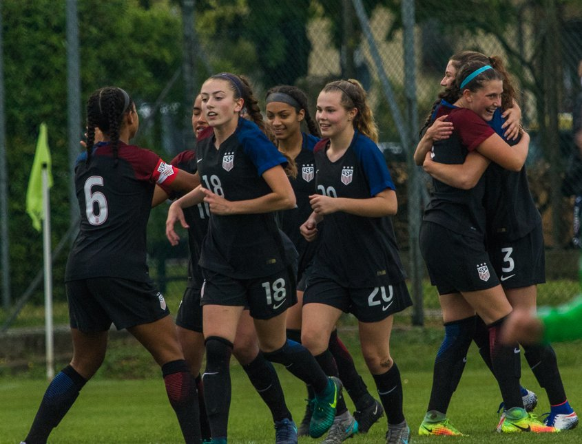 The U-17 #USWNT rolled past host Italy today 6-0 to win the Torneo Delle Nazioni. Goals: Doms (2), Fishel, Van Zanten, Bethune &amp; Godfrey. <br>http://pic.twitter.com/BfMINqOnQd