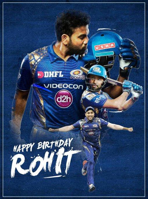 Happy birthday thala Hit man Rohit Sharma