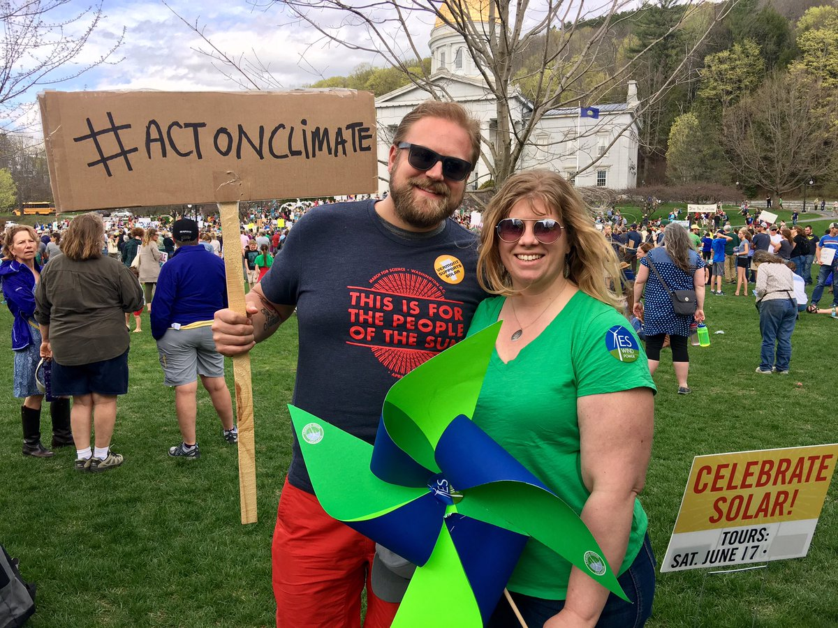 Representing #Solar and #Renewables today with @RE_Vermont at the #peoplesclimatemarch in #vermont! #SolarisNow #Bcorp #ActOnClimate<br>http://pic.twitter.com/c15kITaj2X