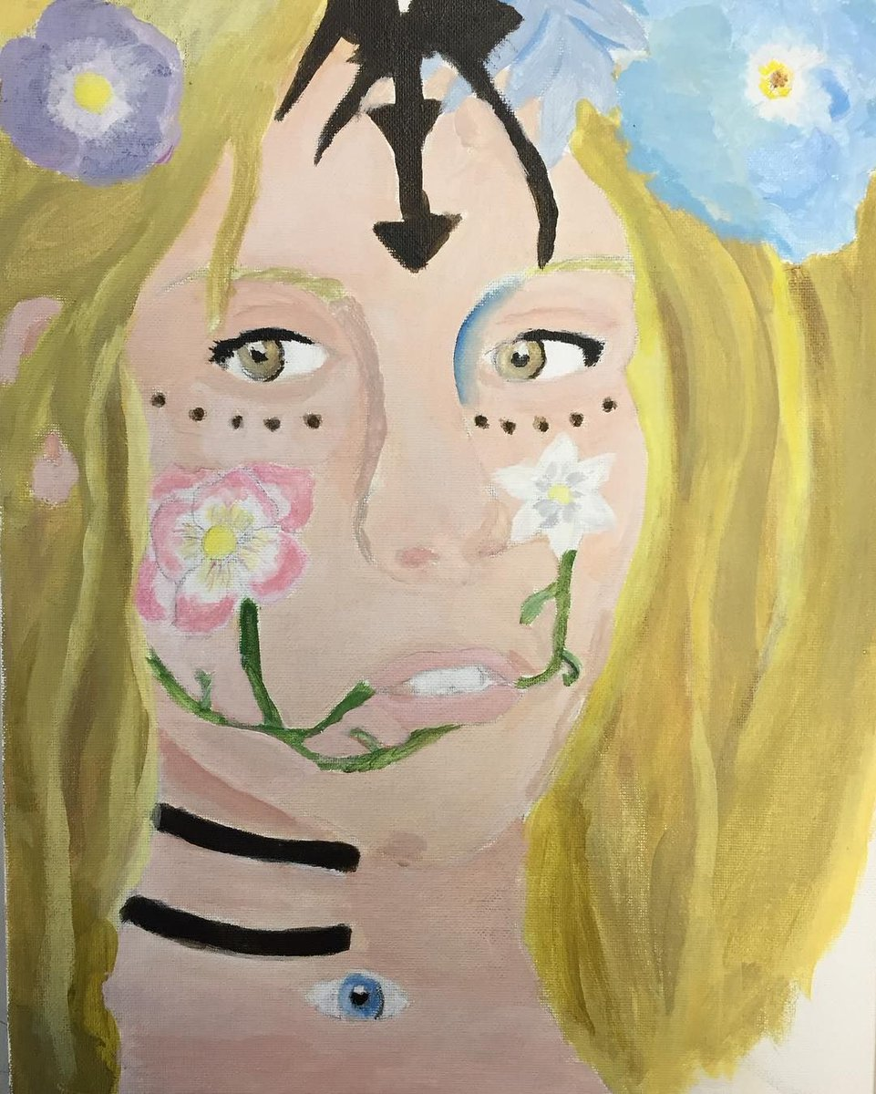Never got a chance to post Shacourtney&#39;s finished portrait project either #art #artslnk #acrylicpaint #painting #por… <br>http://pic.twitter.com/kuT0B7Ds8F