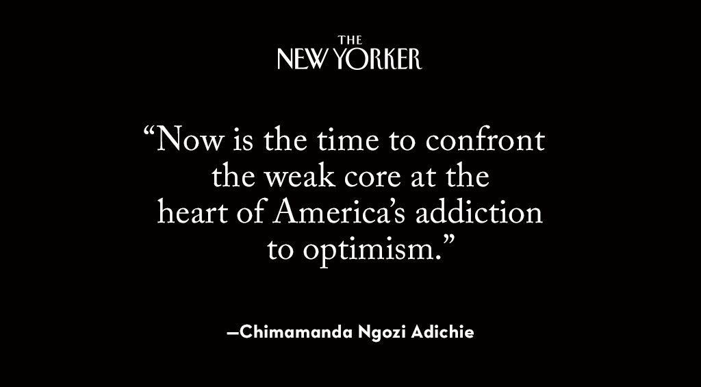 Chimamanda Ngozi Adichie on our moral duty in the wake of Donald Trump's election: http://nyer.cm/F2pIyc2
