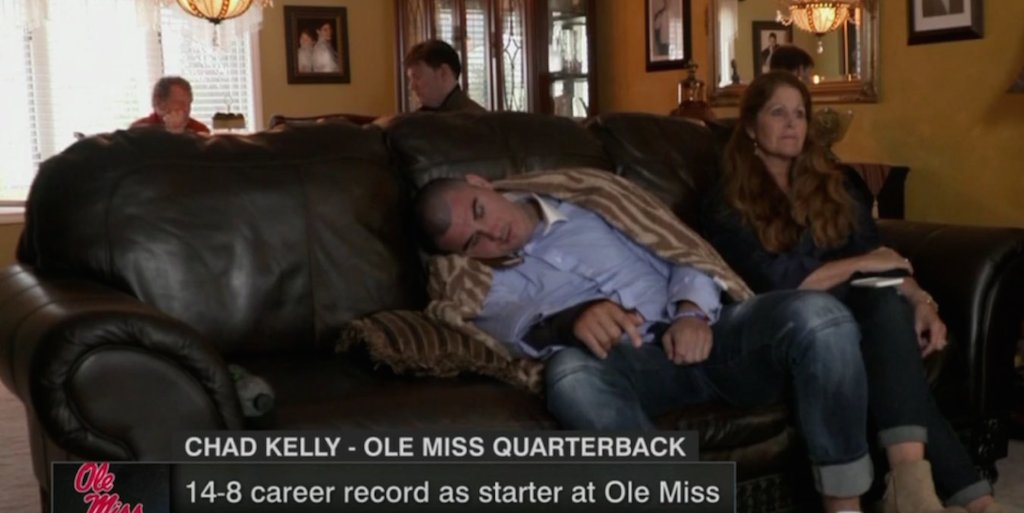Image result for chad kelly asleep