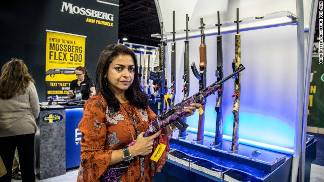 woman gun Indian with