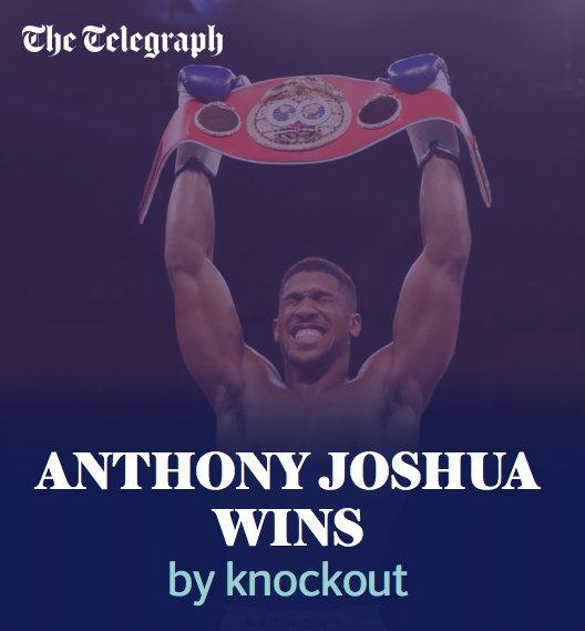 Anthony Joshua wins by TKO! #JoshuaKlitchsko  https://t.co/svwAeTdGA5