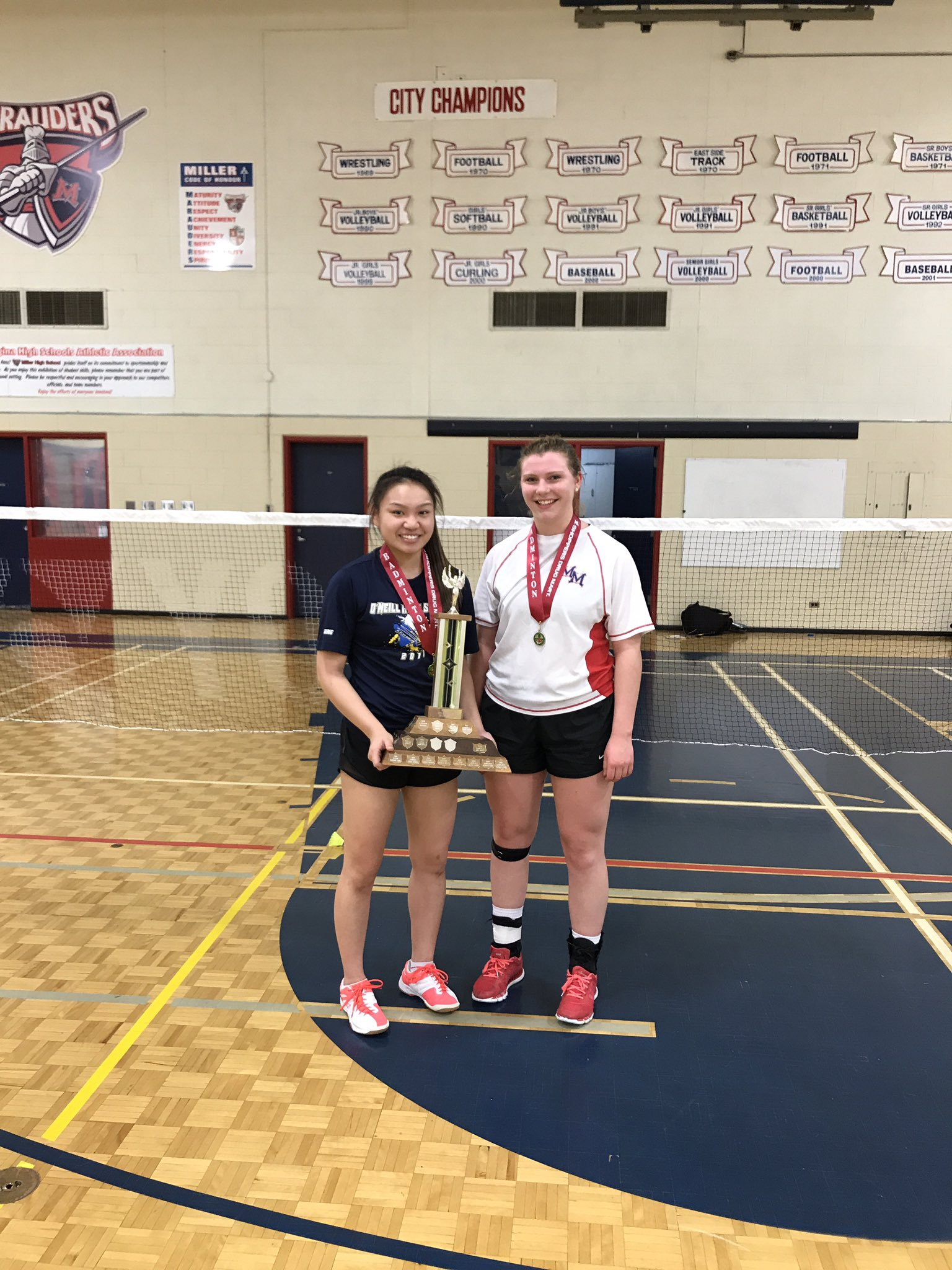 Congrats ONeill on winning Girls Singles Badminton Title!  Shout to Miller on taking home silver! https://t.co/TAVCaQkYOe