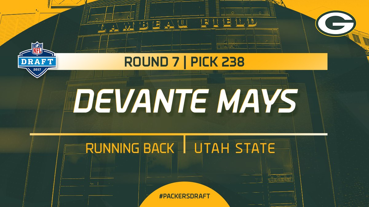 With the 238th pick in the 2017 #NFLDraft, the #Packers select Utah St...