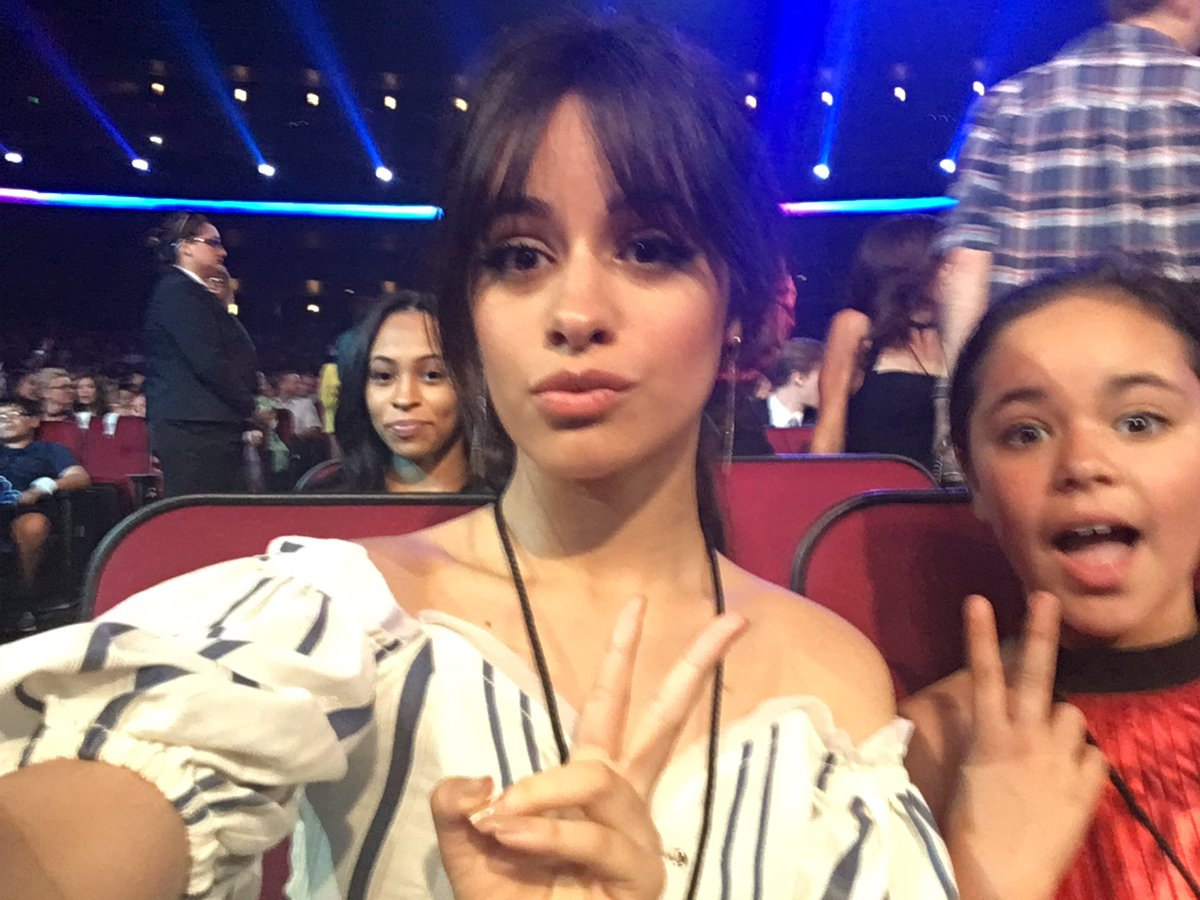 The show is starting! #RDMA presenter @Camila_Cabello is in her seat and ready to go!!