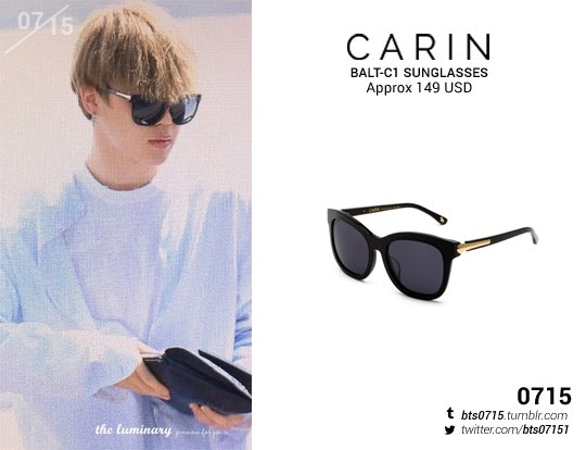 9a8fa0ca79 170428  JIMIN  BTS  방탄소년단  박지민  지민 CARIN Balt-C1 sunglasses pic.twitter.com FNbyj5CKu5
