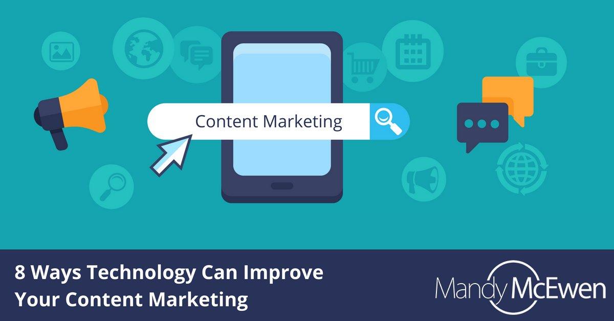8 Ways Technology Can Improve Your Content Marketing https://t.co/jMbQmgDQSm via @ModGirlMktg @MandyModGirl