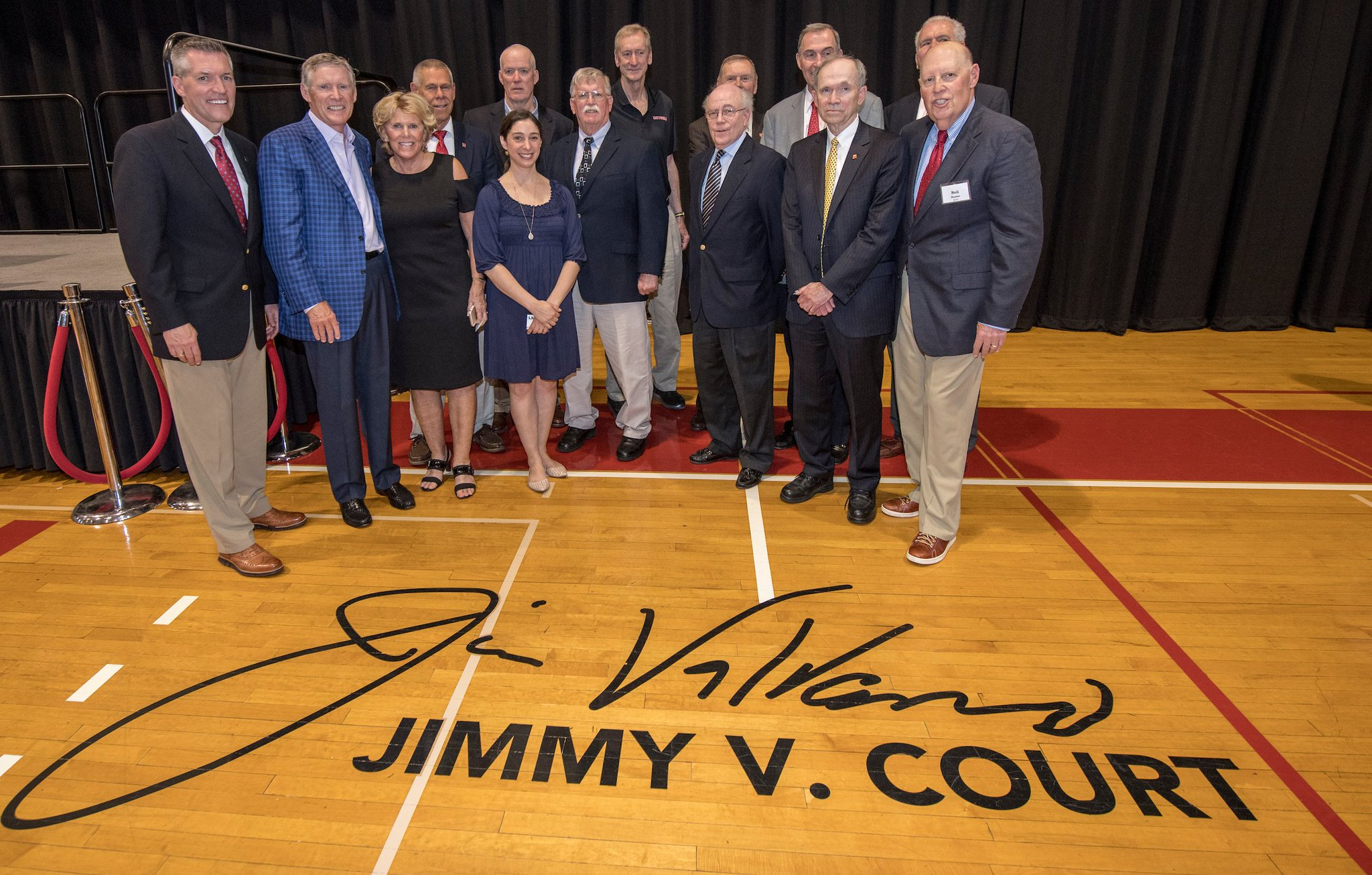 College Ave. Gym Court Officially Dedicated to Jim Valvano: https://t.co/UUDesxCYCr https://t.co/MGQSI2PaYV