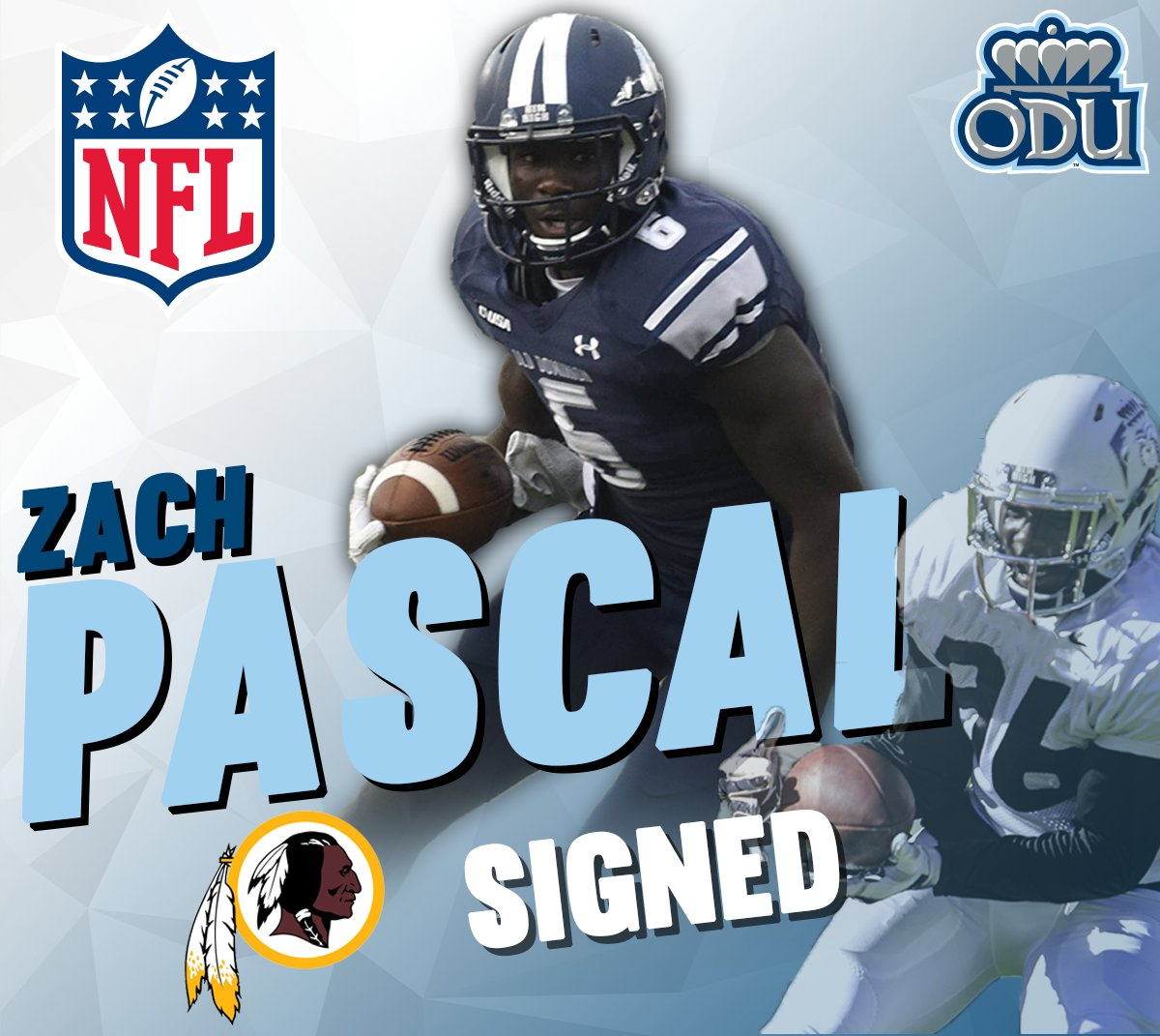 Zach Pascal has been signed by the @Redskins #ODUFB https://t.co/lucfj3lgan