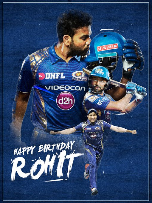 MUMBAI INDIANS Paltan Wishes a Very HAPPY BIRTHDAY    to Skipper Rohit Sharma ....
