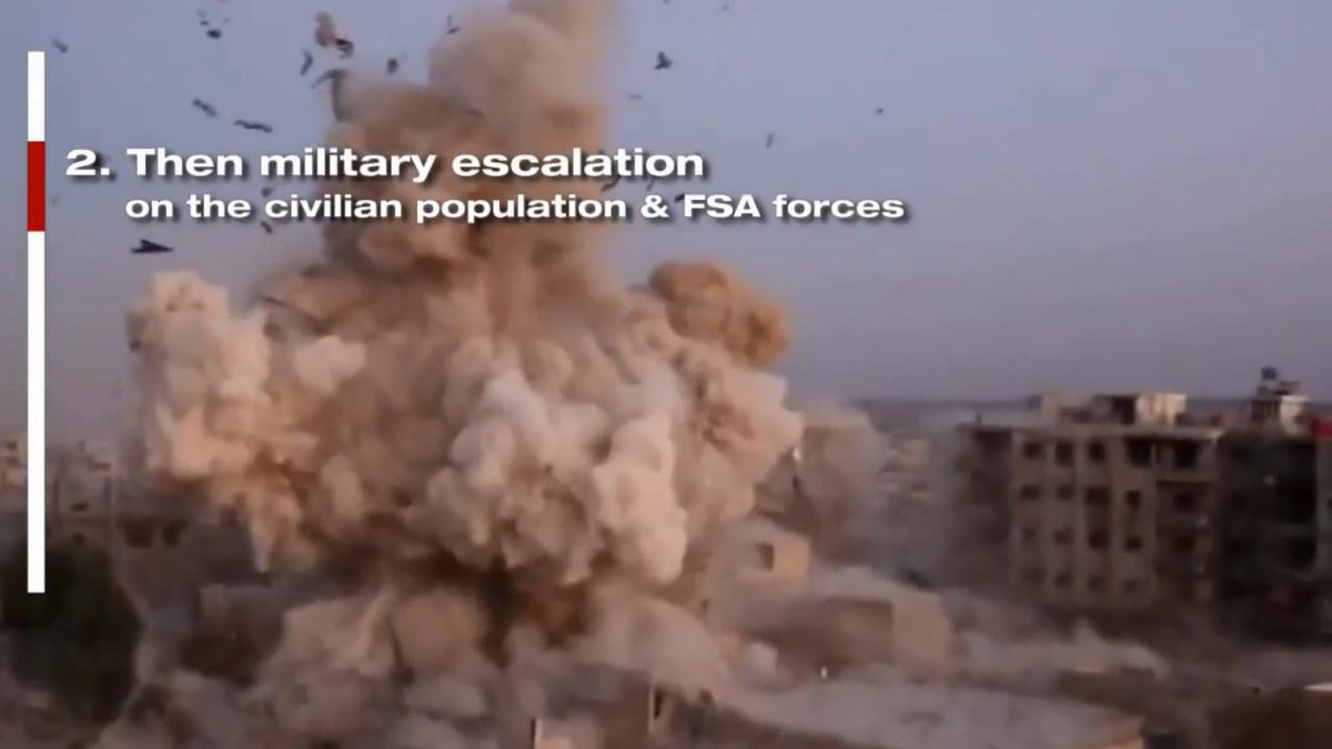 #Video || #Syria  Barbaric regime military strategy revealed as it tries to ethnically cleanse civilian populations   https:// youtu.be/2O4c8JgnNa0  &nbsp;  <br>http://pic.twitter.com/fL23oUKjyv
