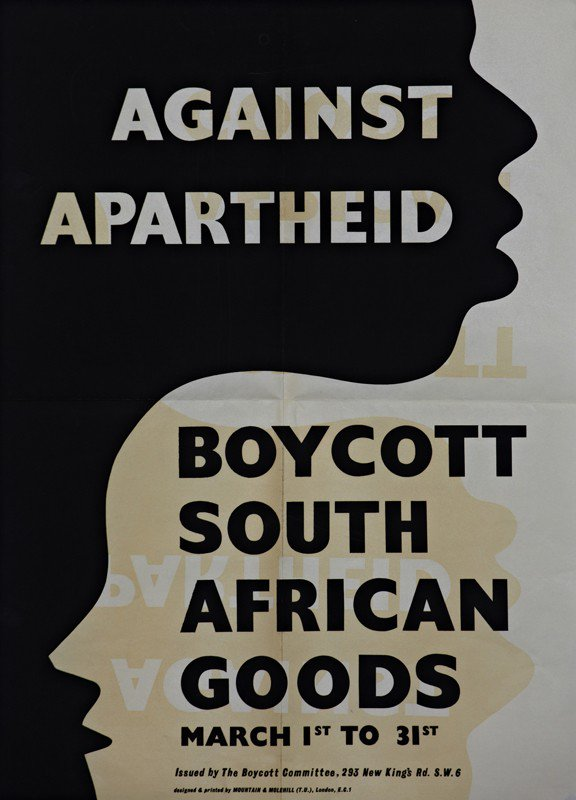From @aamarchives poster for UK 1960 March Month of Boycott of South African Goods. BDS Works! #BDS #Palestine #FreePalestine cc @SenSanders<br>http://pic.twitter.com/hkVxnfAVgT
