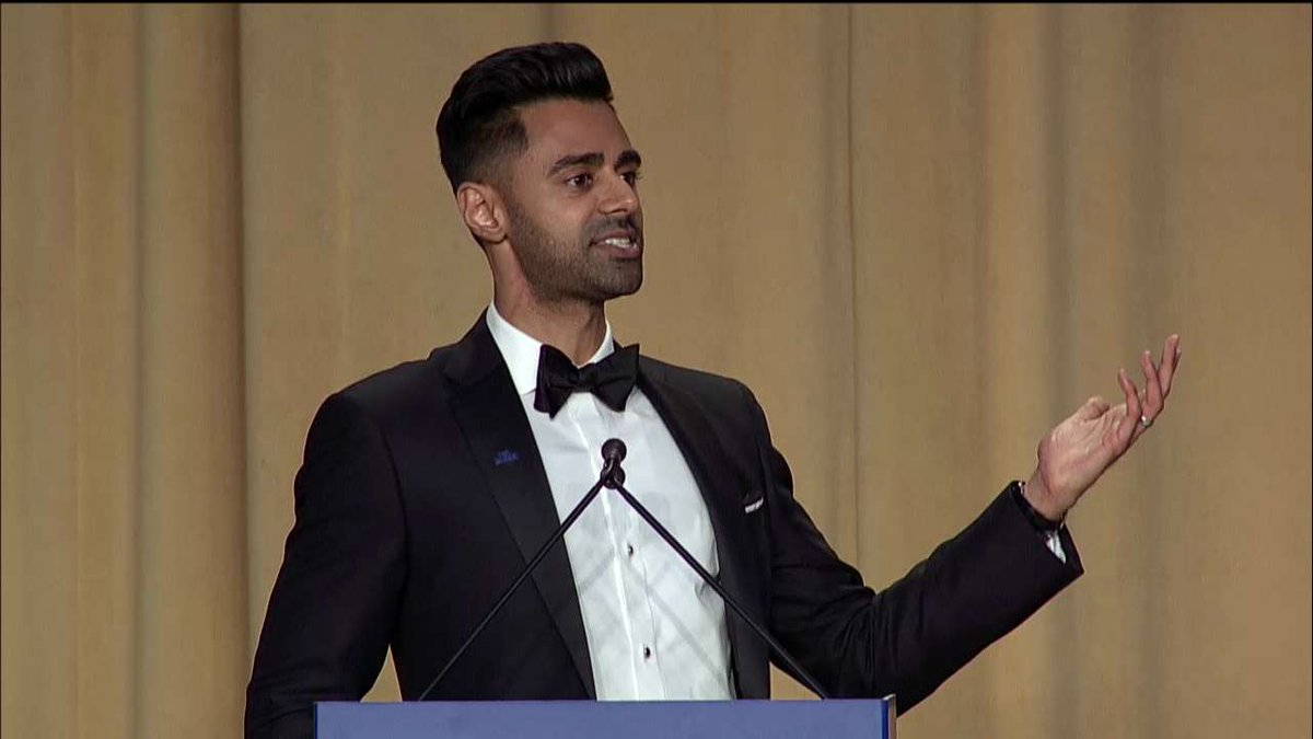 .@hasanminhaj: 'The news coming out of the White House is so stressful, I've been watching 'House of Cards' just to relax.' #WHCD #WHCD20172017