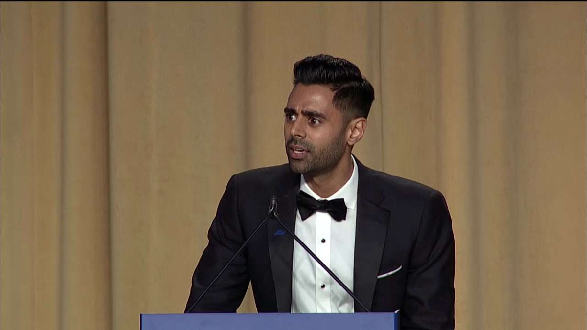 .@hasanminhaj: 'I have a feeling [@SecretaryPerry] is sitting in a room full of plutonium waiting to become Spider-Man.' #WHCD #WHCD20172017
