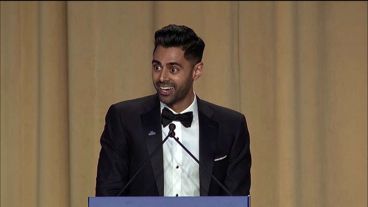 .@hasanminhaj: 'Good job, ladies - because of you, we couldn't hang out with Mike Pence.' #WHCD #WHCD2017
