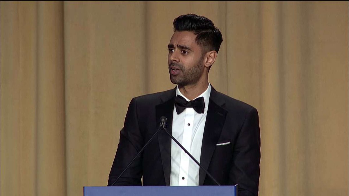 .@hasanminhaj: 'Remember Election Night? That was your Steve Harvey Miss Universe moment. The look on your faces at 11pm...' #WHCD #WHCD20172017