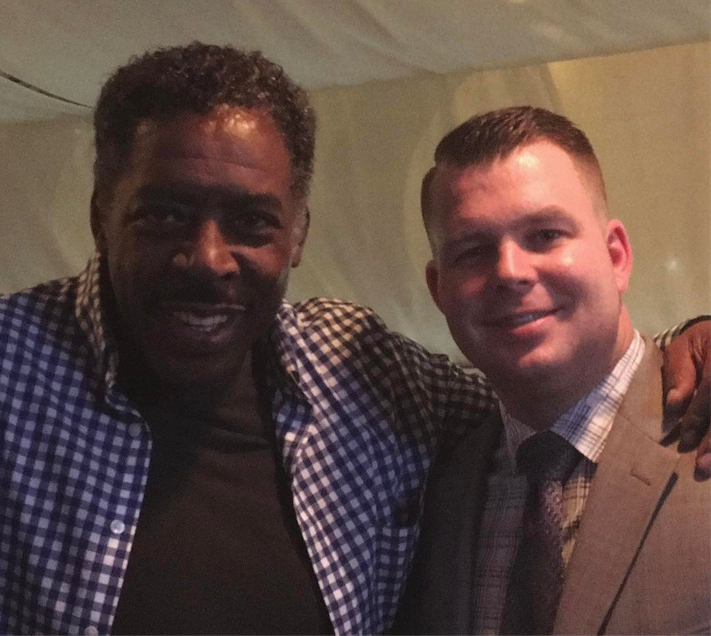 Bareli&#39;s ain&#39;t afraid of no ghost. Ernie Hudson with Liam, our manager @liam_moloney3  #whoyougonnacall #ghostbusters #barelis . . . #ita… <br>http://pic.twitter.com/sHVxQsPEfw