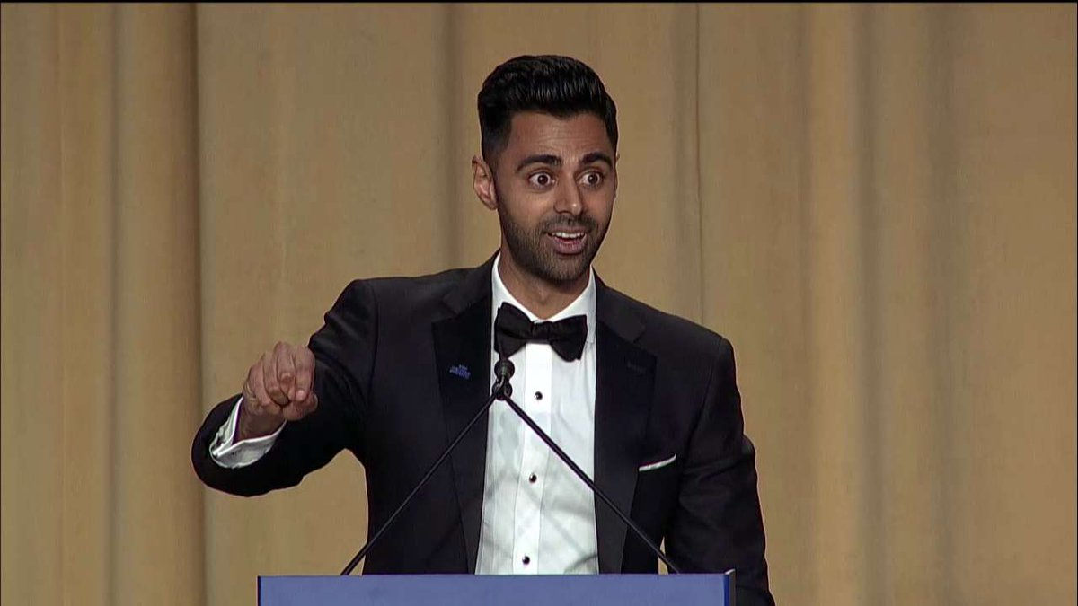 .@hasanminhaj: 'In the age of Trump, I know that you guys have to be more perfect now more than ever. B/c you are how @POTUS gets his news.'