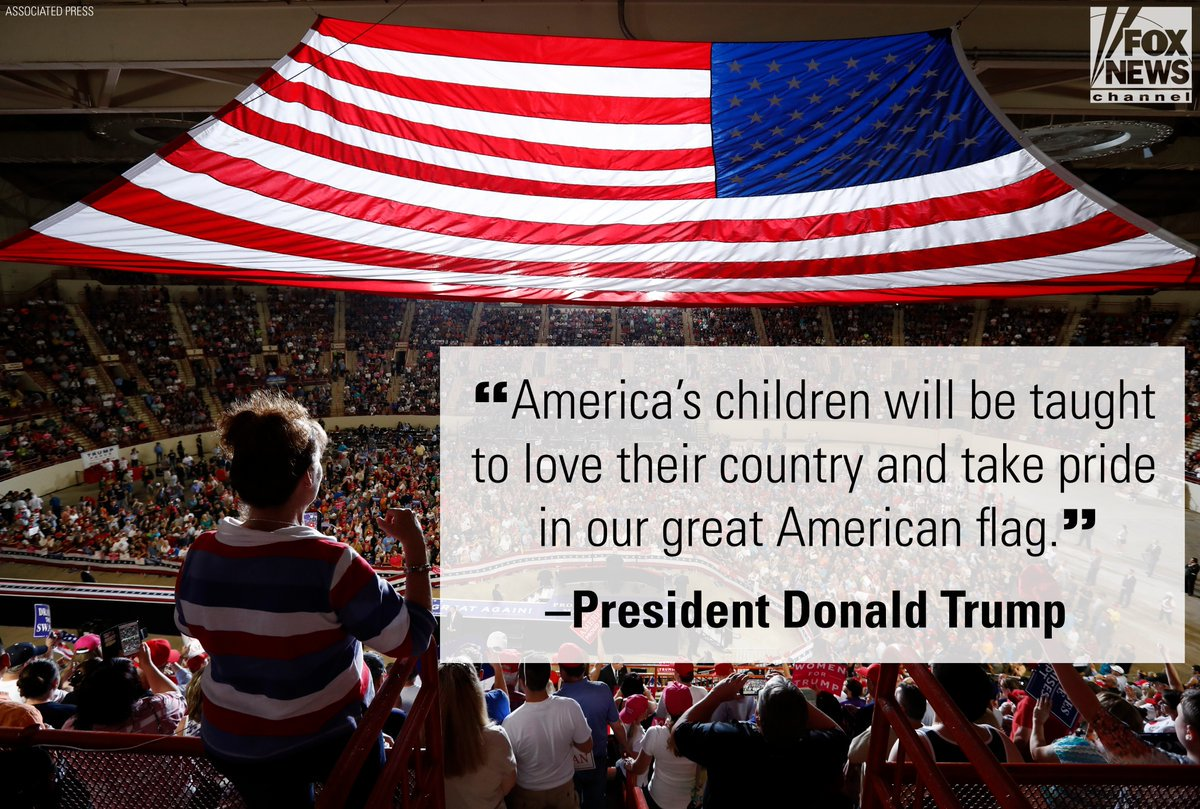 At his rally tonight in Harrisburg, Pennsylvania, @POTUS promised a renewed patriotism in the United States. https://t.co/BM8RvR9OaX