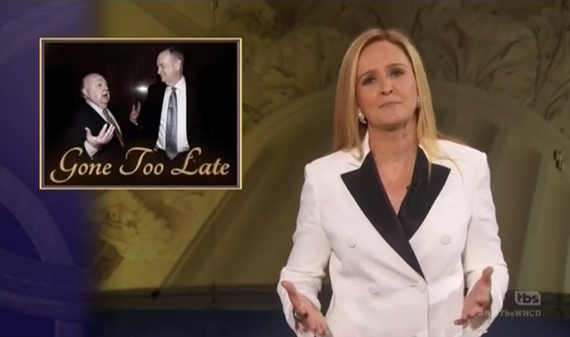 'Gone too late': Samantha Bee gives a 'eulogy' for Bill O'Reilly and Roger Ailes at 'Not the WHCD' https://t.co/qrRojd9GV8
